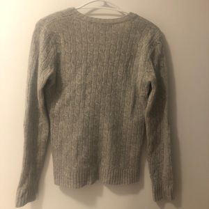 Sweaters - Ralph Lauren cable knit merino wool v-neck sweater